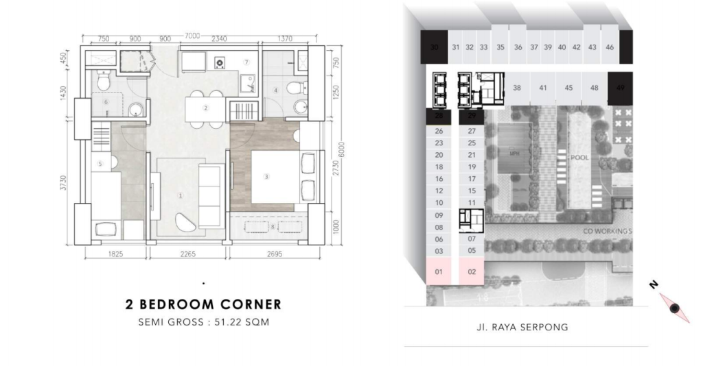 2bedroom corner collins