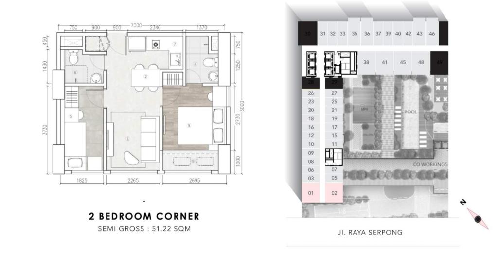 2bedroom corner collins