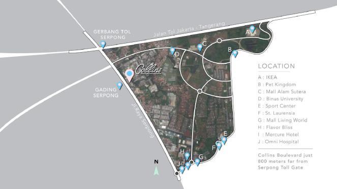 lokasi collins boulevard